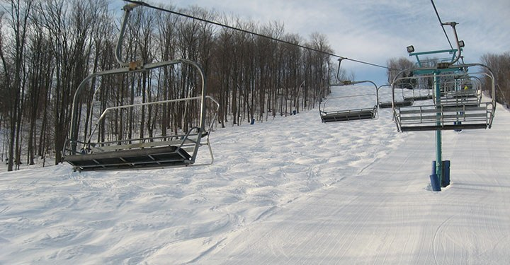 Chute moguls and corduroy