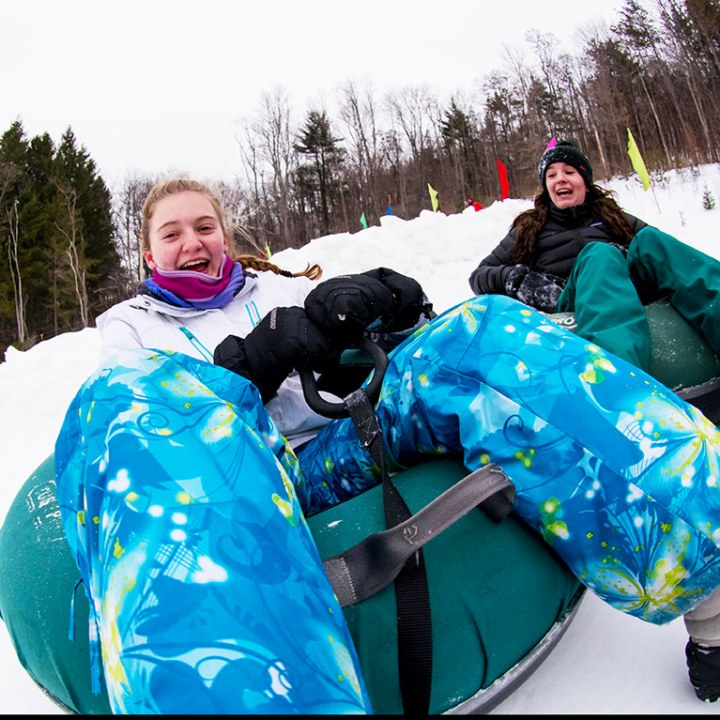 Girls Tubing at Holiday Valley