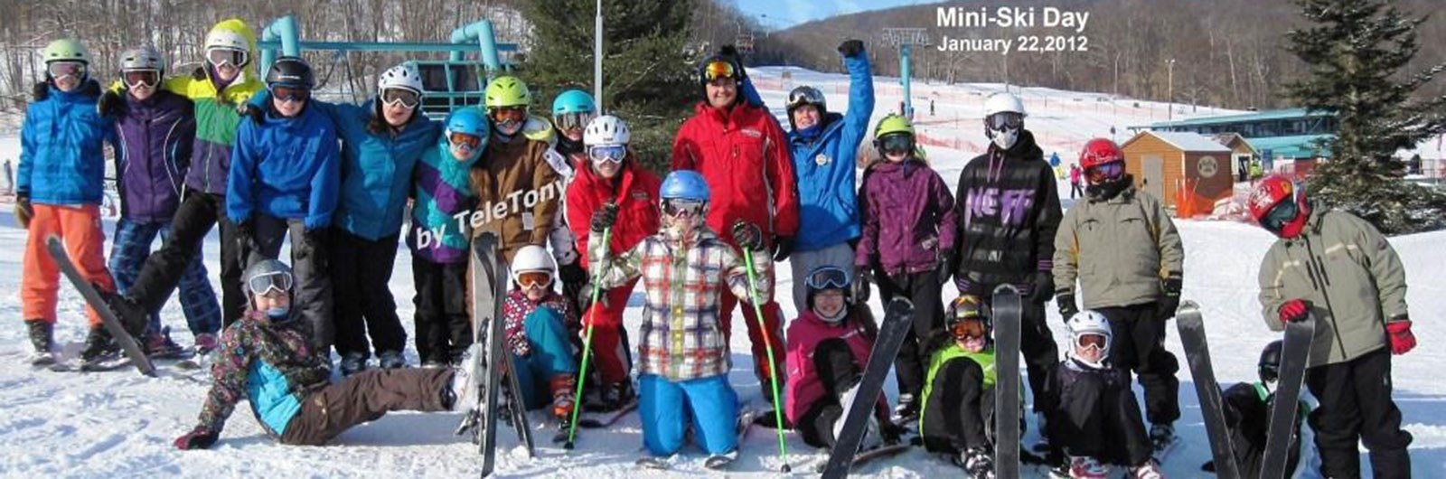 Eagles group of young teen skiers
