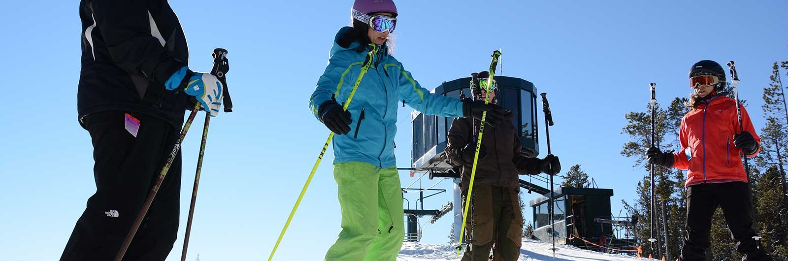 Womens ski clinic with Lisa Densmore