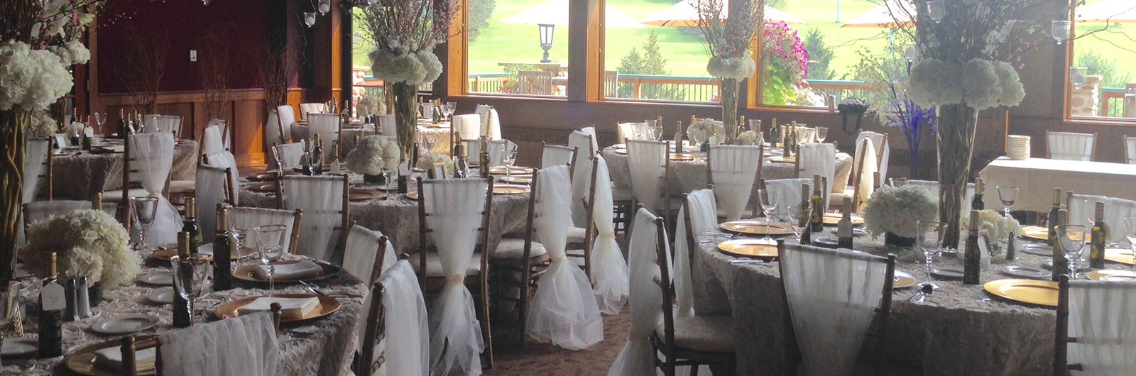 Wedding setup in Holiday Valley Lodge