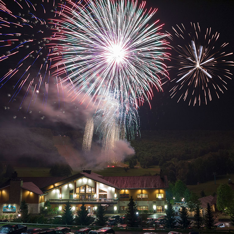 July 4th Fireworks show at Holiday Valley