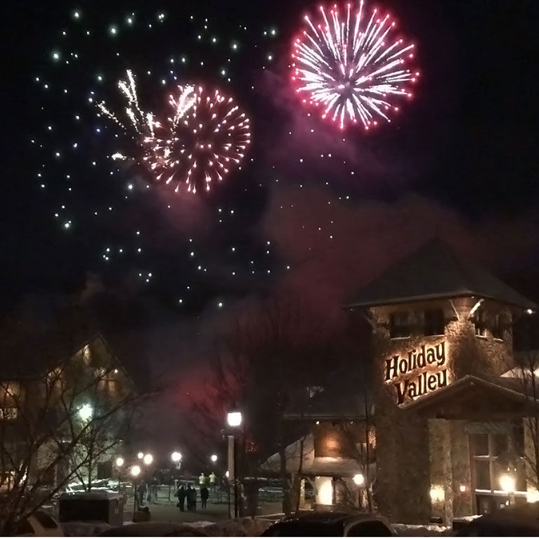 Fireworks at Holiday Valley on New Years Eve