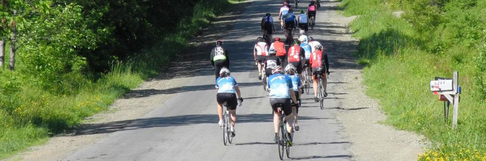 Road cycling in the Ellicottville countryside