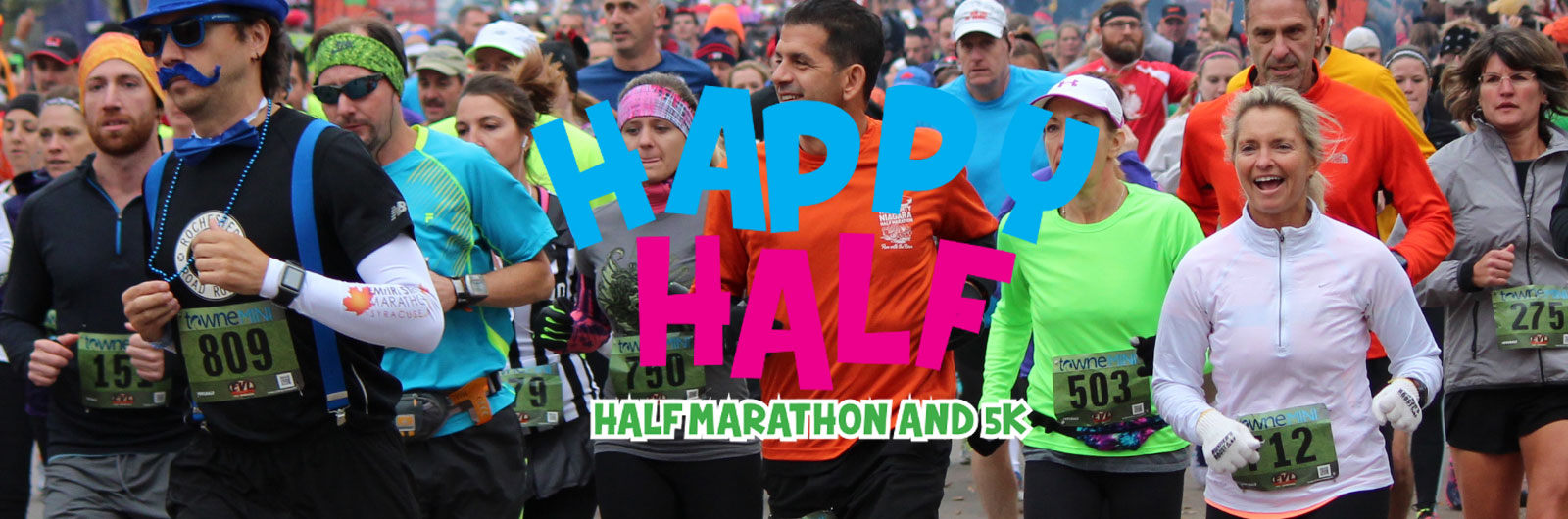 runners in the Happy Half marathon