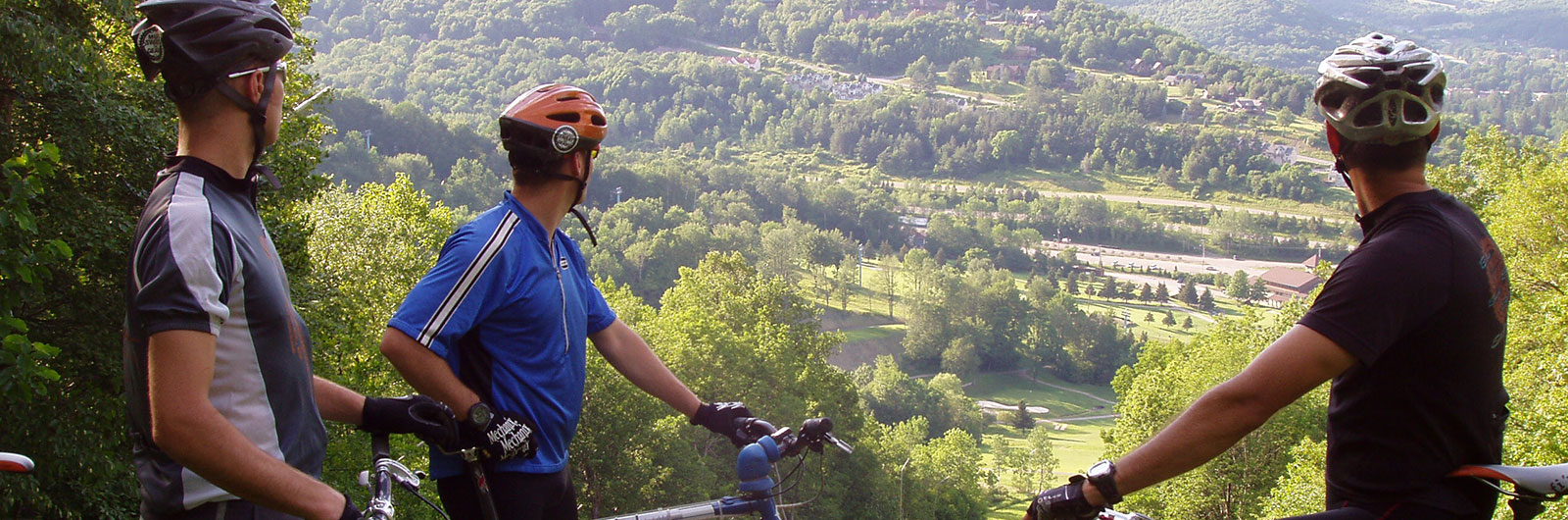 Mountain Bikers View from the top of the slopes