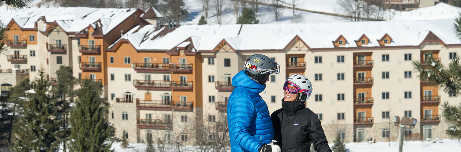 holiday valley tamarack unit layouts couple on the slope overlooking tamarack club