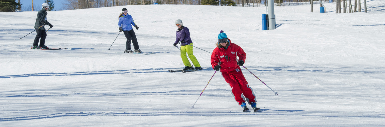 Ski Instructor leading class