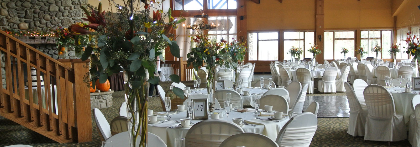 Wedding setup at Yodeler Lodge
