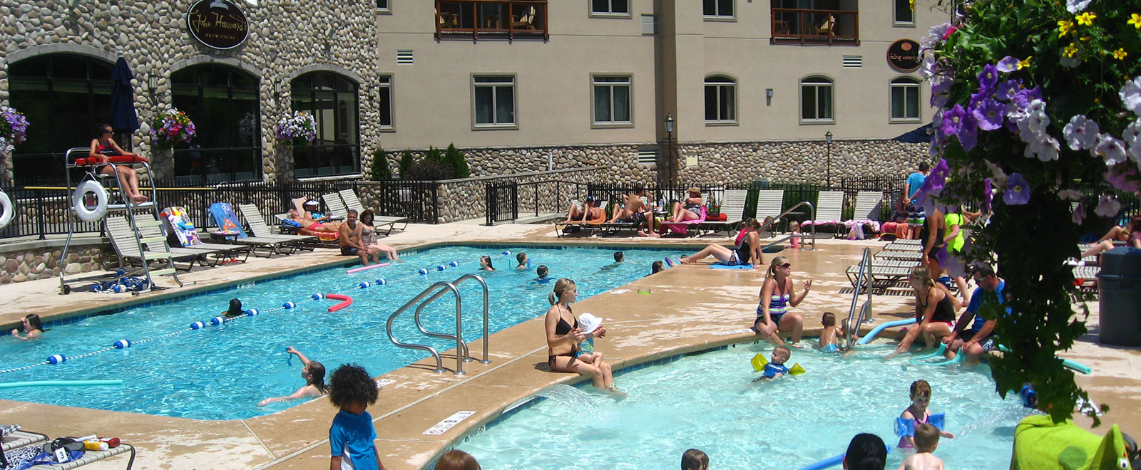 Cool off in the pools! Open daily.