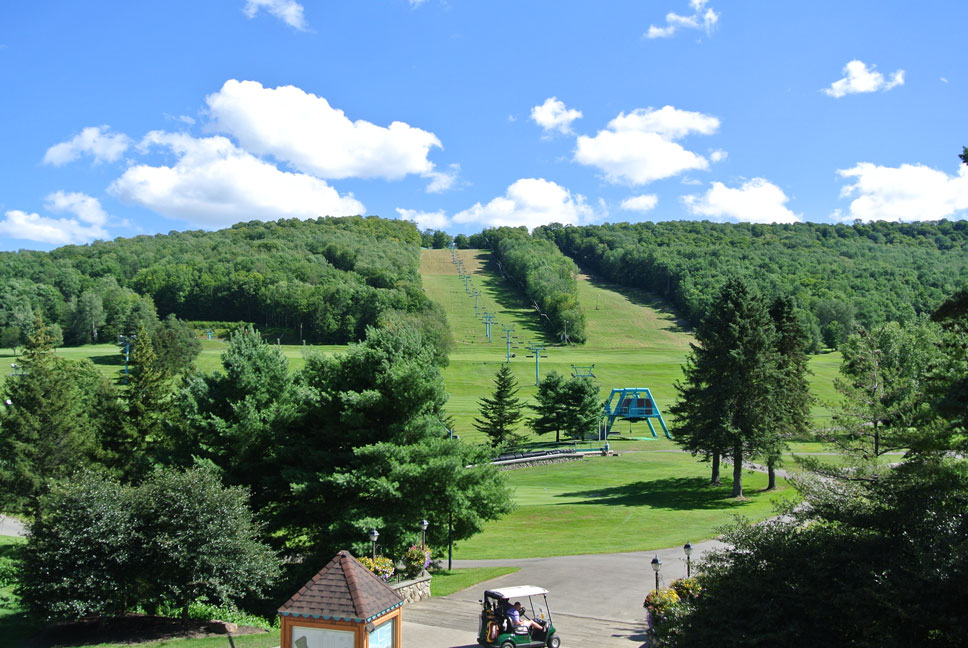 summer view of the slopes