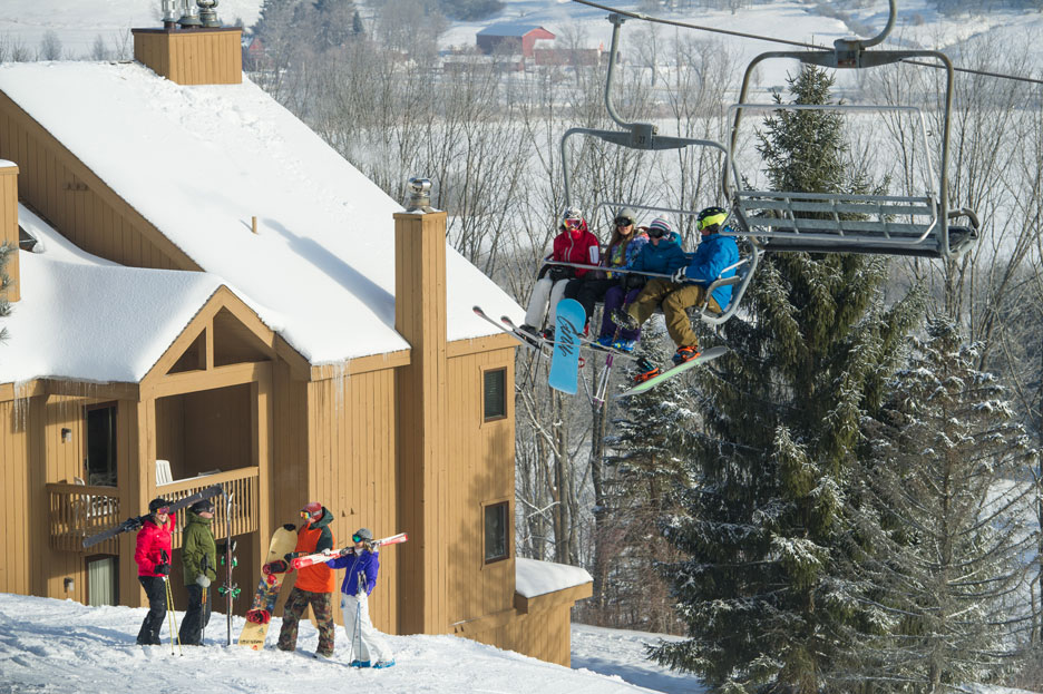 snowpine village condo with chairlift