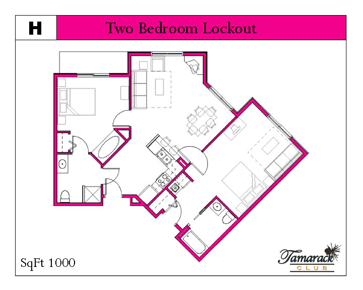 two bedroom lockout unit layout