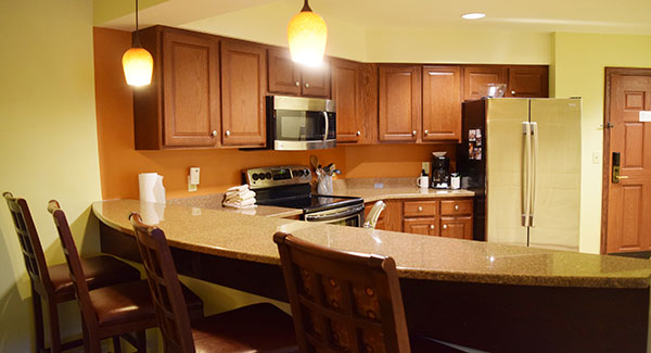 kitchen counter in executive suite