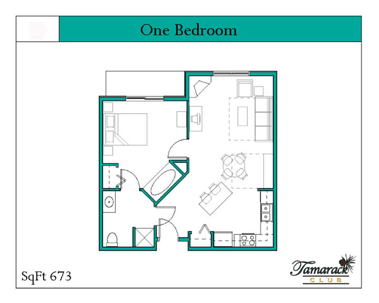 One Bedroom sleeps 4