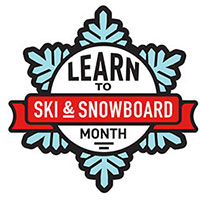 Learn to Ski Snowboard Month logo