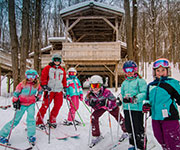 kids ski lesson at the Fort
