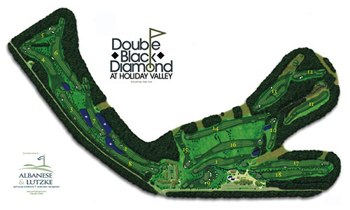 Double Black Diamond Golf Course Map