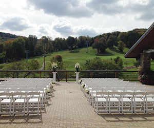 Resort Services deck ceremony setup