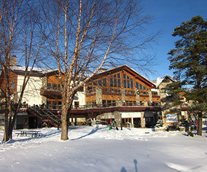 Holiday Valley Lodge in winter