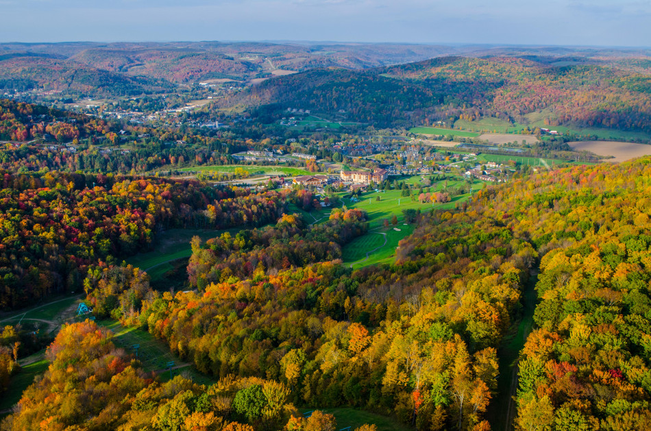Arial View in Fall