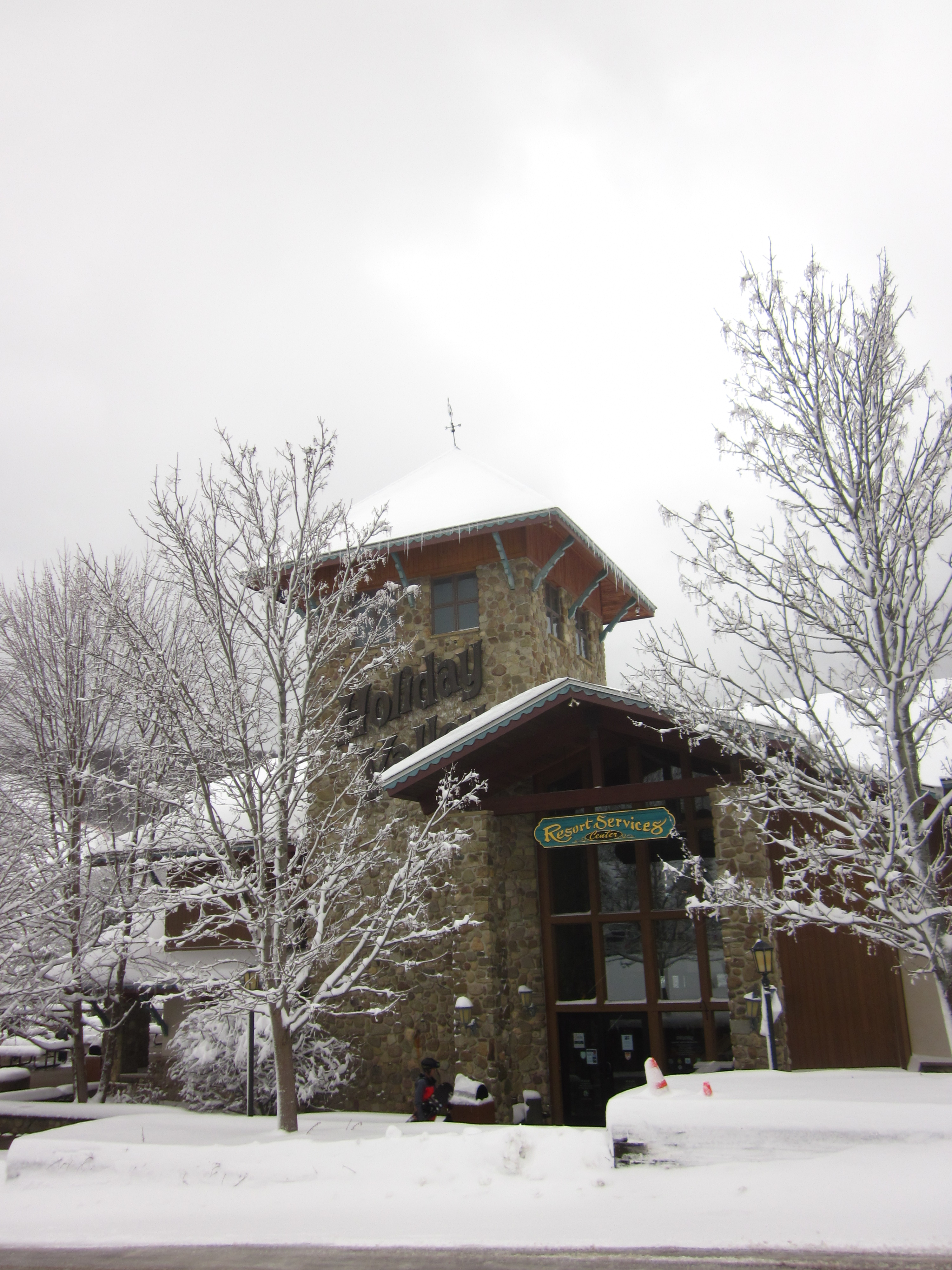 March 2 snowstorm Resort Services Center