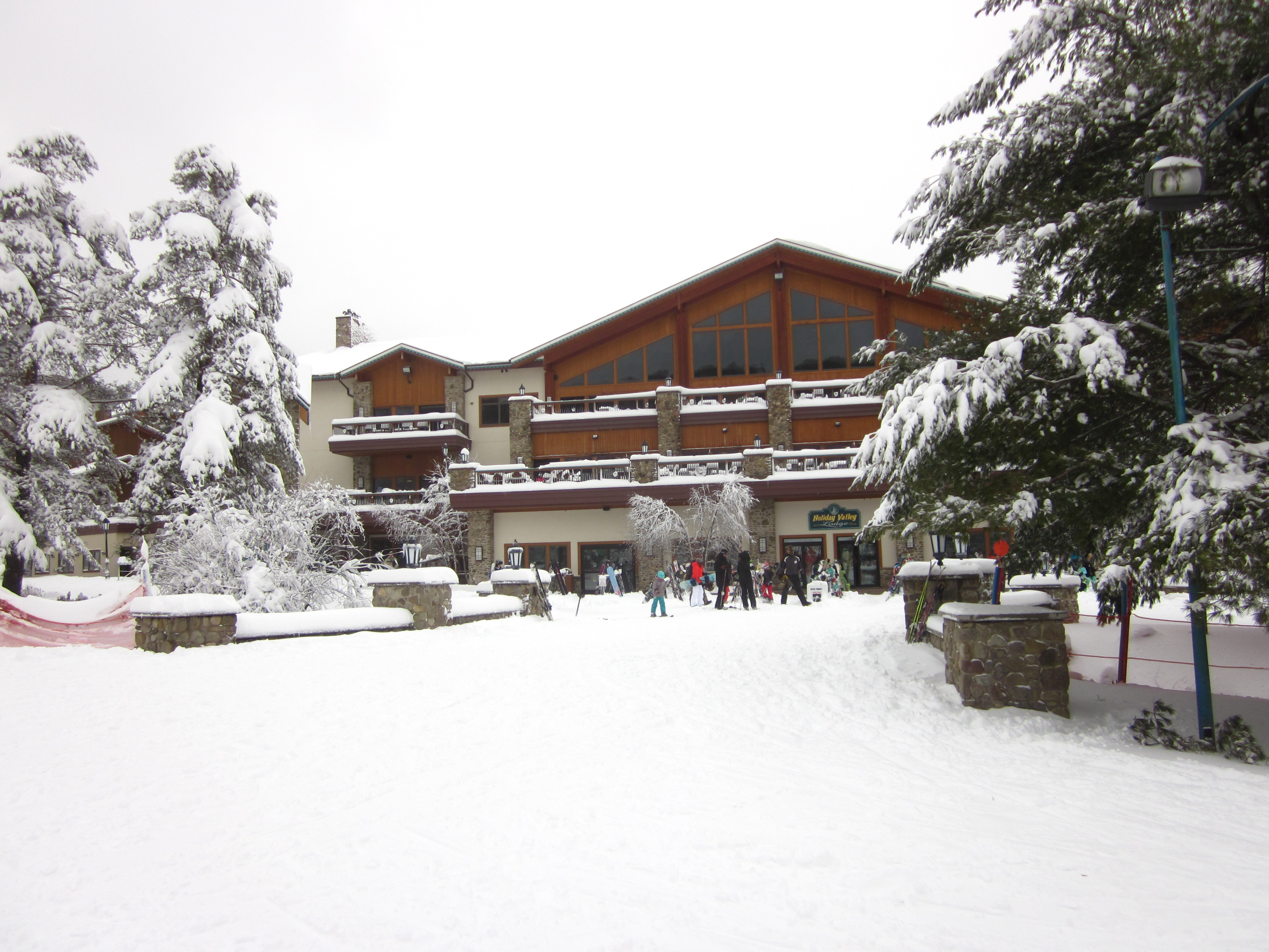 "Holiday Valley Lodge after 18"" Snowfall"