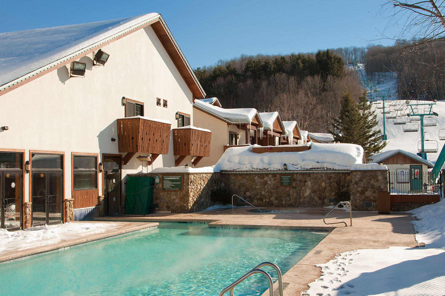 Inn Pool in Winter