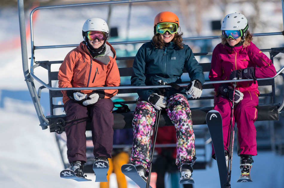 Ladies on Lift