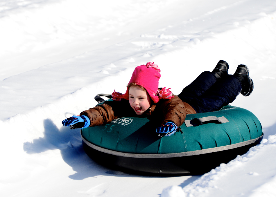 Little Girl Tubing
