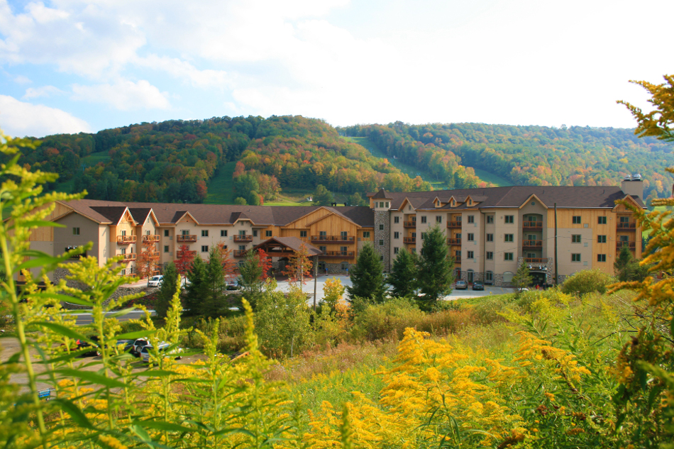 Tamarack Lodge in Fall