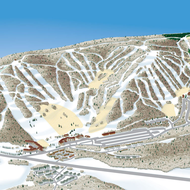 Trail map of Holiday Valley